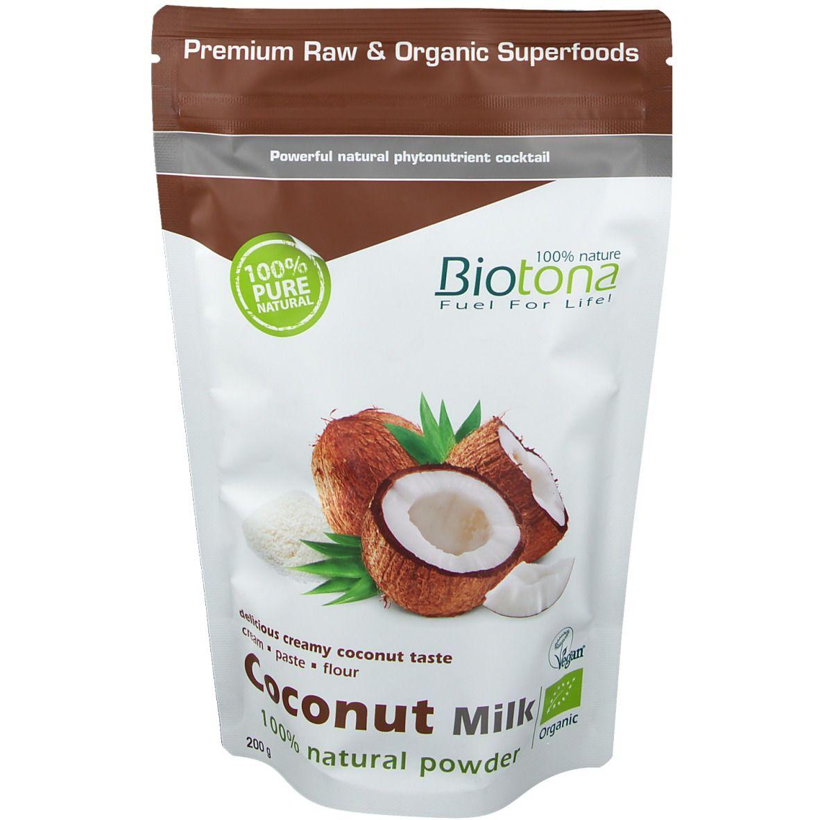 Biotona Poudre de Lait de Noix de Coco Naturel Bio g poudre
