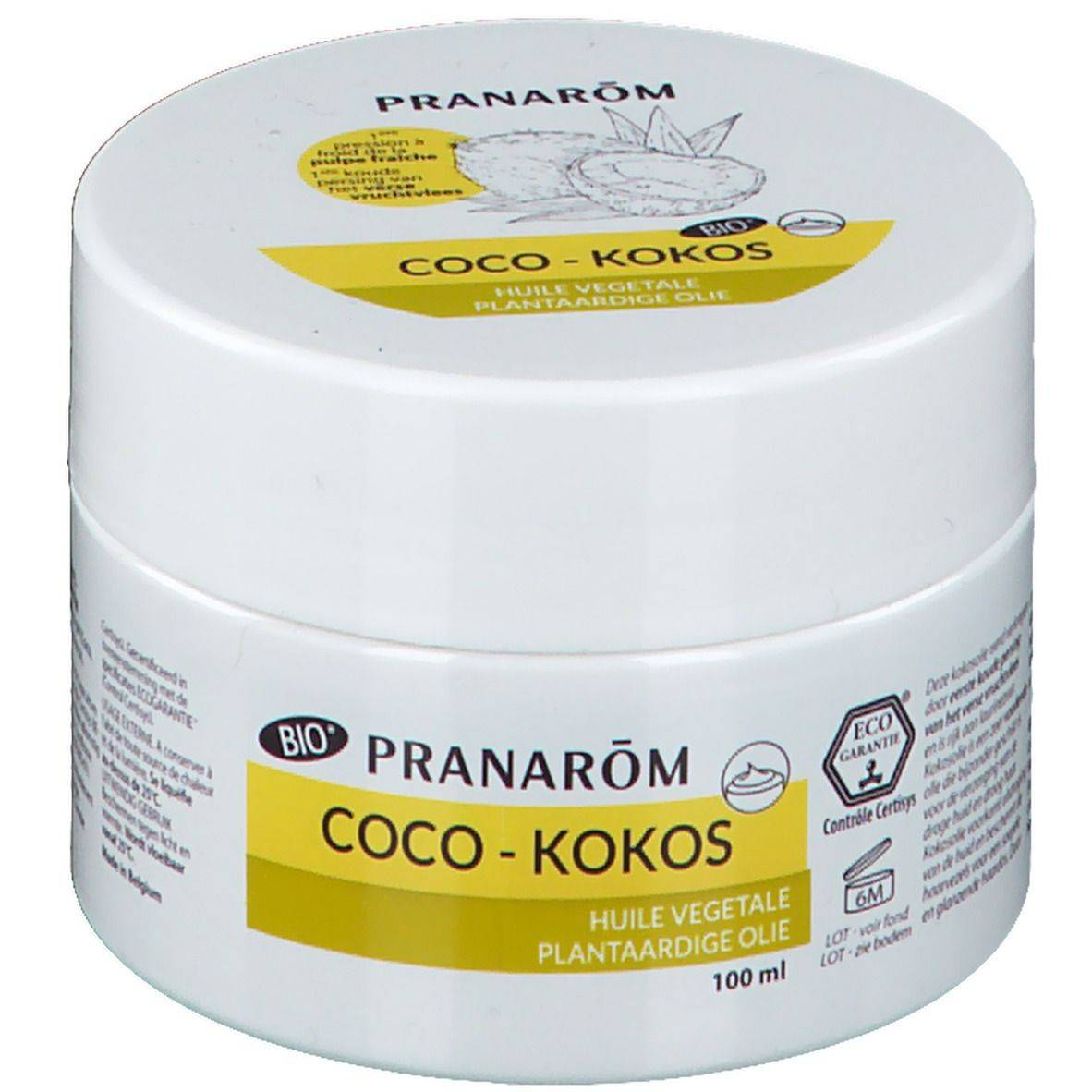 Pranarôm Huile végétale Coco Bio ml huile