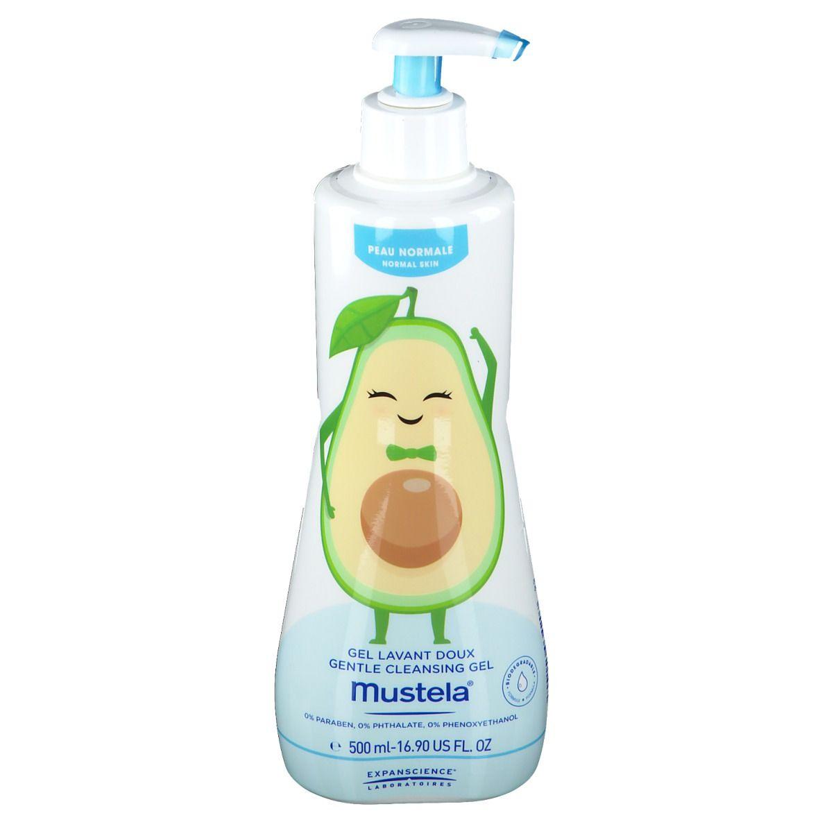 mustela® Bébé Enfant Gel Lavant Doux à l'Avocat BIO Peau Normale ml gel nettoyant