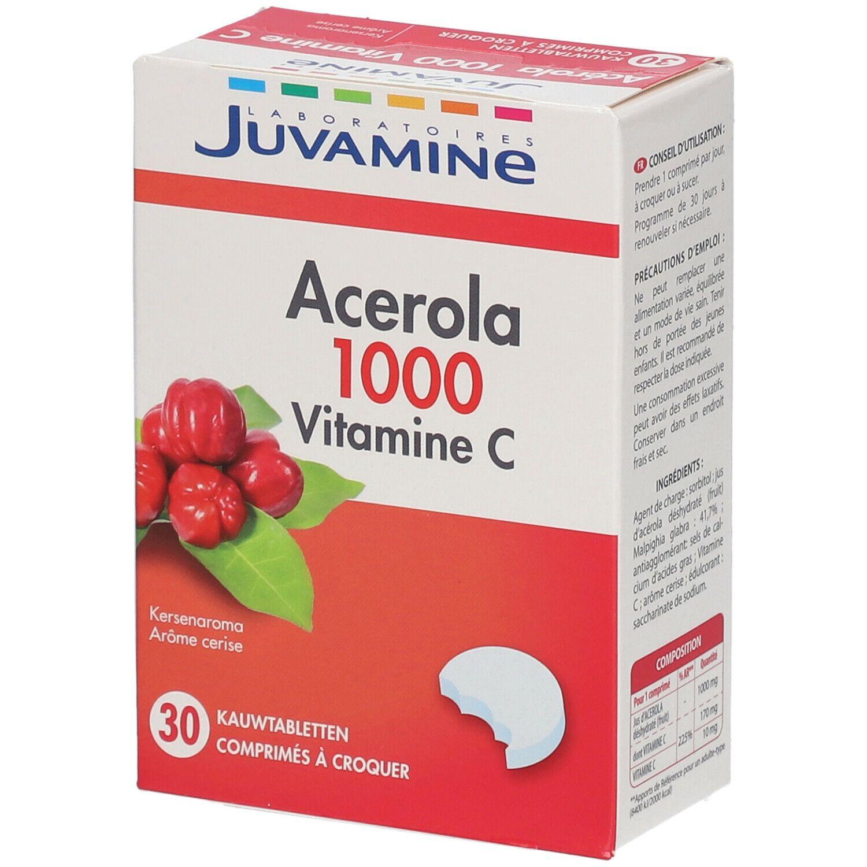 JUVAMINE Acérola 1000 Vitamine C Goût cerise pc(s) comprimé(s) à croquer