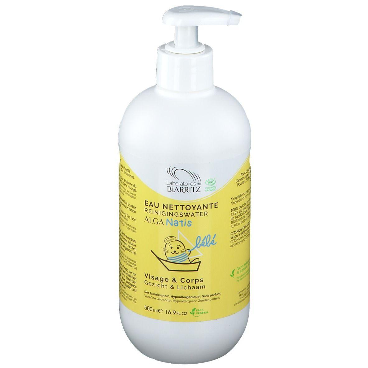 Alga Natis Laboratoires de BIARRITZ ALGA NATIS® - Soins Bébé Eau Nettoyante certifiée Bio ml eau pour le visage