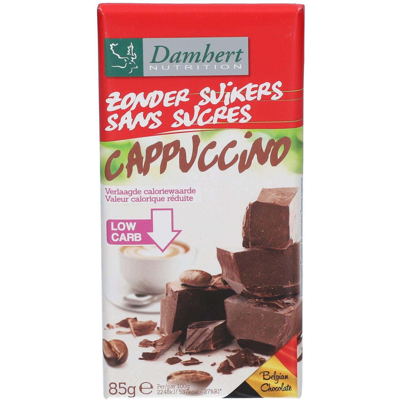 Damhert Nutrition Damhert Tablette de chocolat cappuccino sans sucre g chocolat