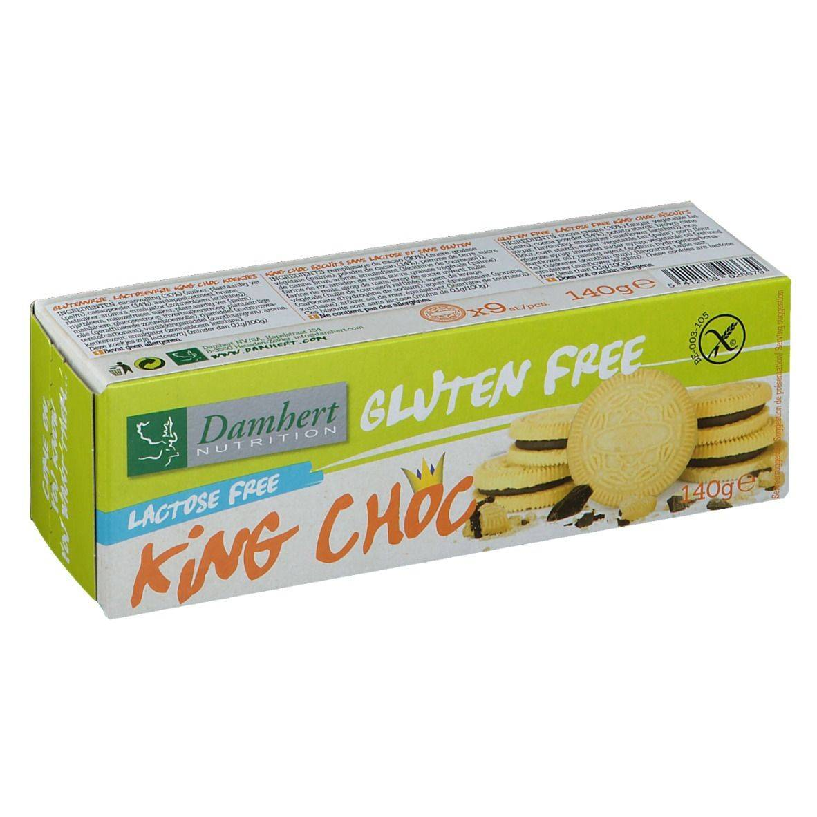 Damhert Gluten Free King Choc biscuits sans lactose g biscuit(s)