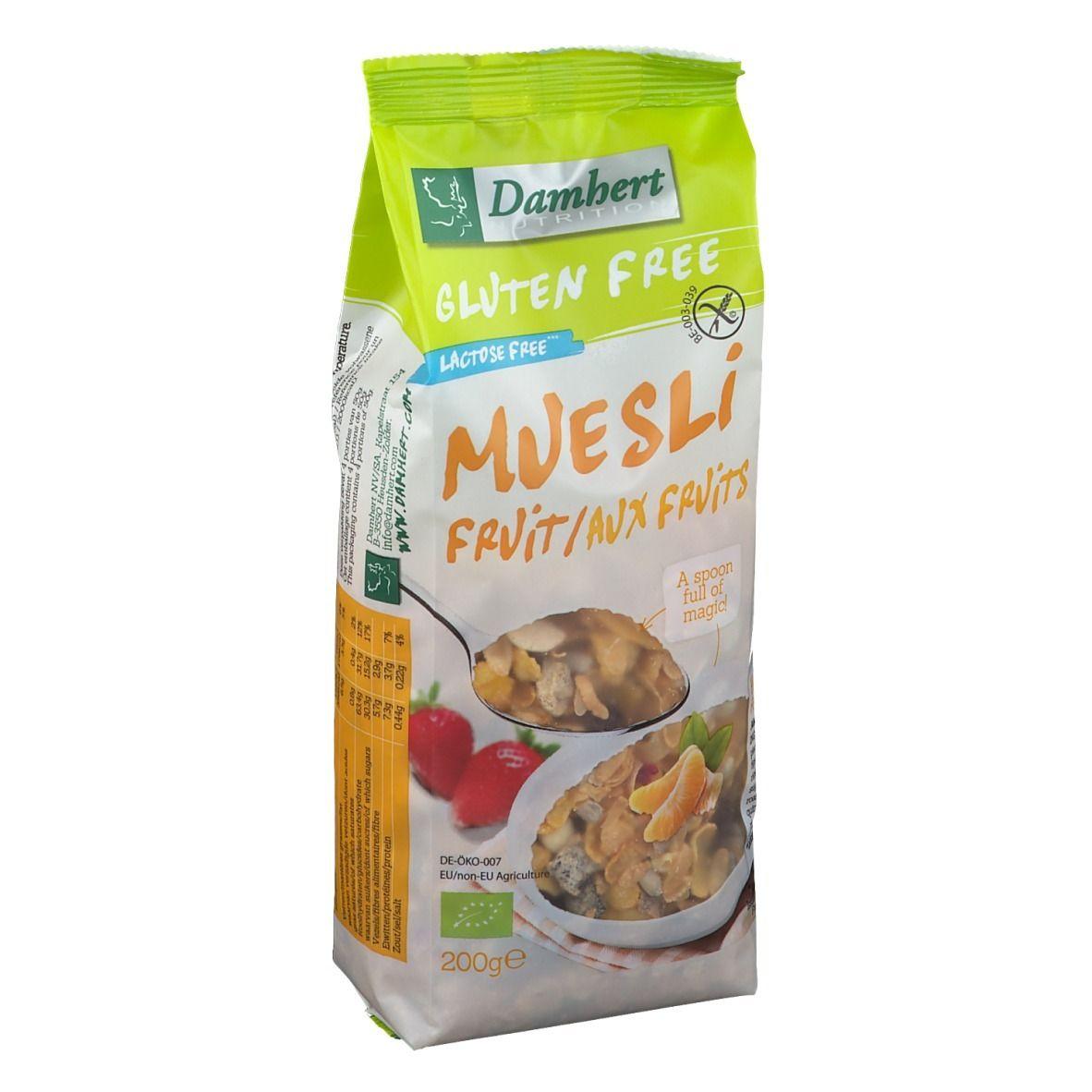 Damhert Gluten Free Muesli aux fruits BIO g restant(s)