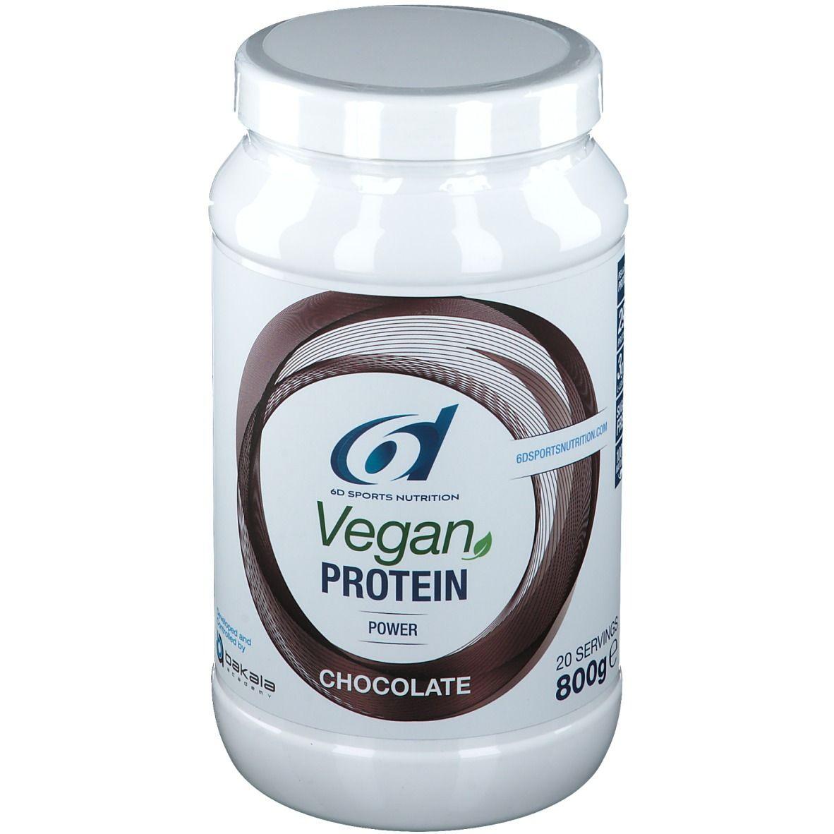 6D SPORTS NUTRITION Vegan PROTEIN Chocolat g poudre