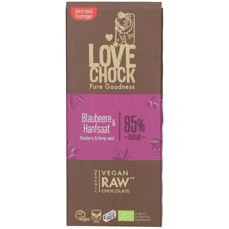 Love Chock Lovechock Bio Graines de Myrtilles & Chanvre g chocolat