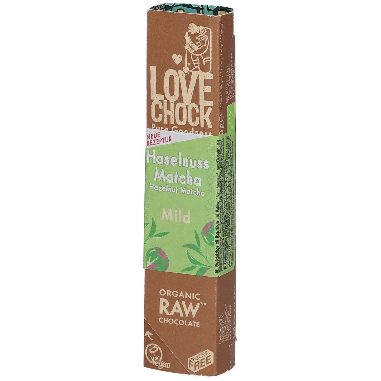 Love Chock Lovechock Bio Noisette Matcha Barre g chocolat