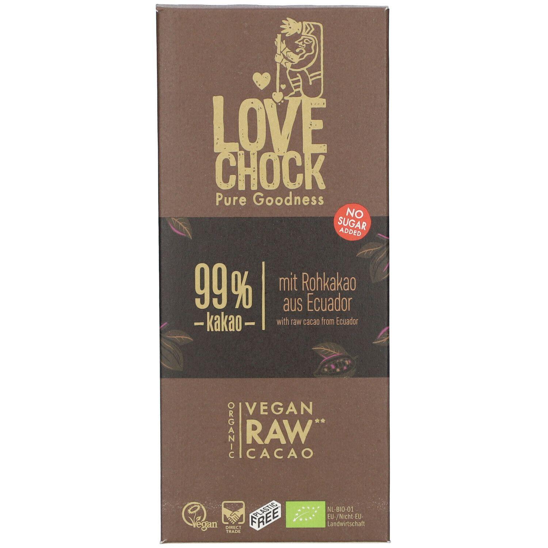 Love Chock Lovechock Noir Intense, 99 % Cacao g chocolat