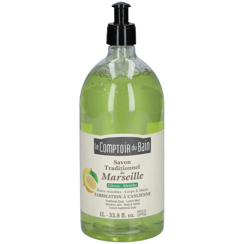Le Comptoir du Bain savon de Marseille citron menthe ml savon liquide