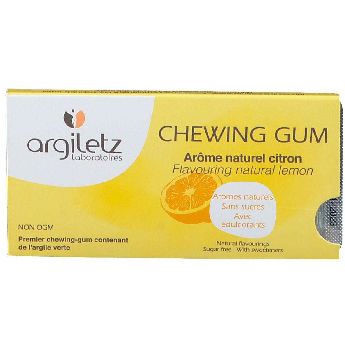 Argiletz Argil'Gum citron sans sucre pc(s) chewing-gum(s)