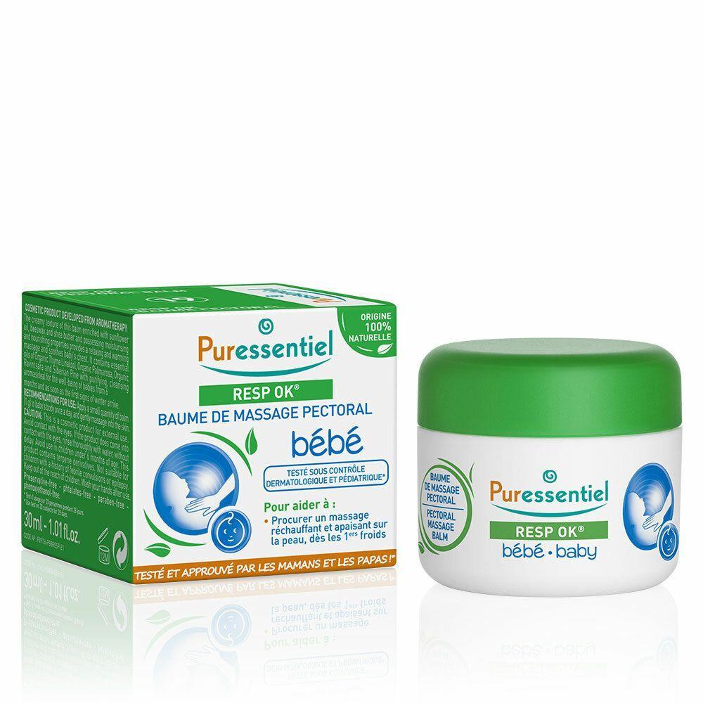 Puressentiel RESP OK® Baume de Massage pectoral bébé ml baume