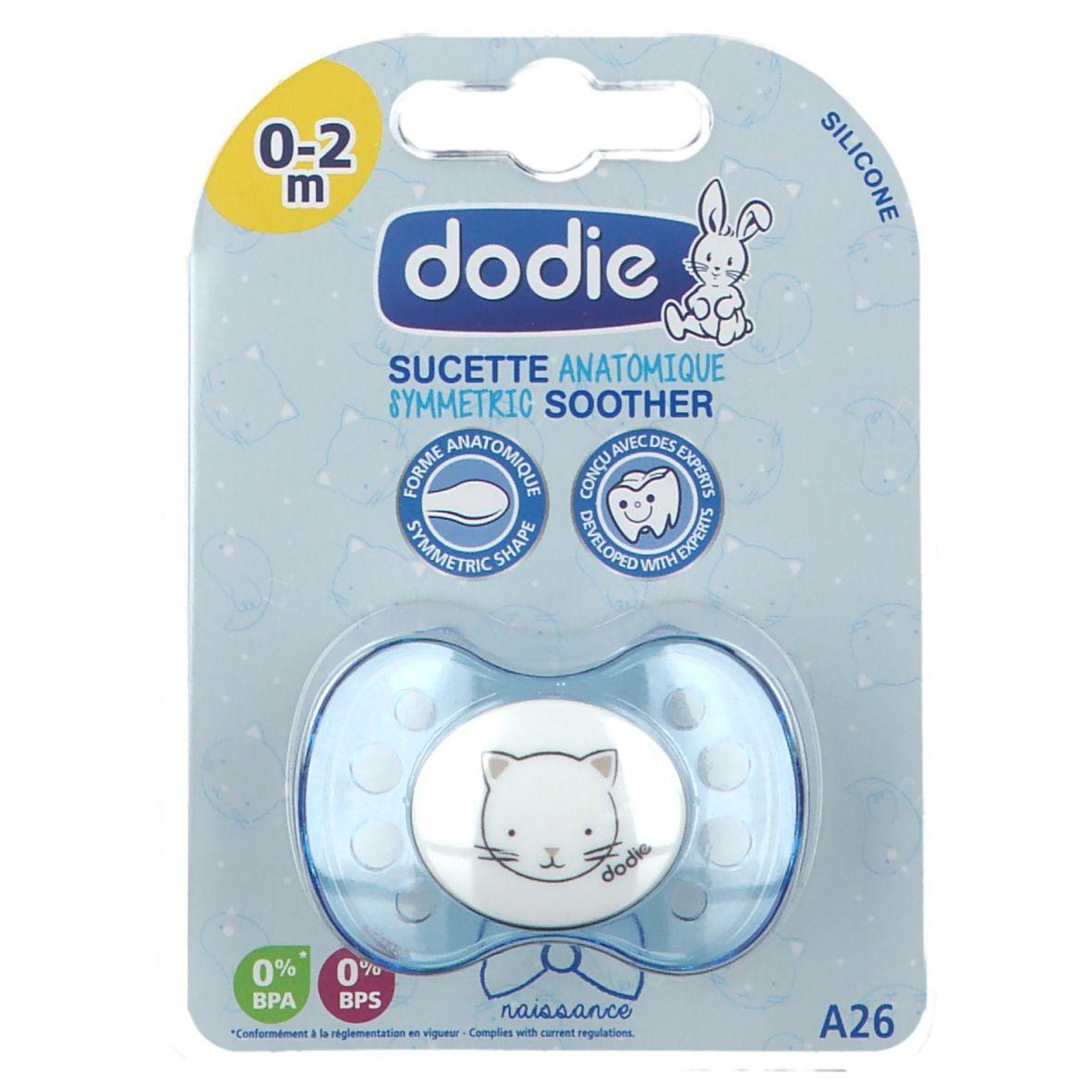 dodie® Sucette nouveau-ne silicone Motiv coeur Bleu pc(s) Sucette(s)
