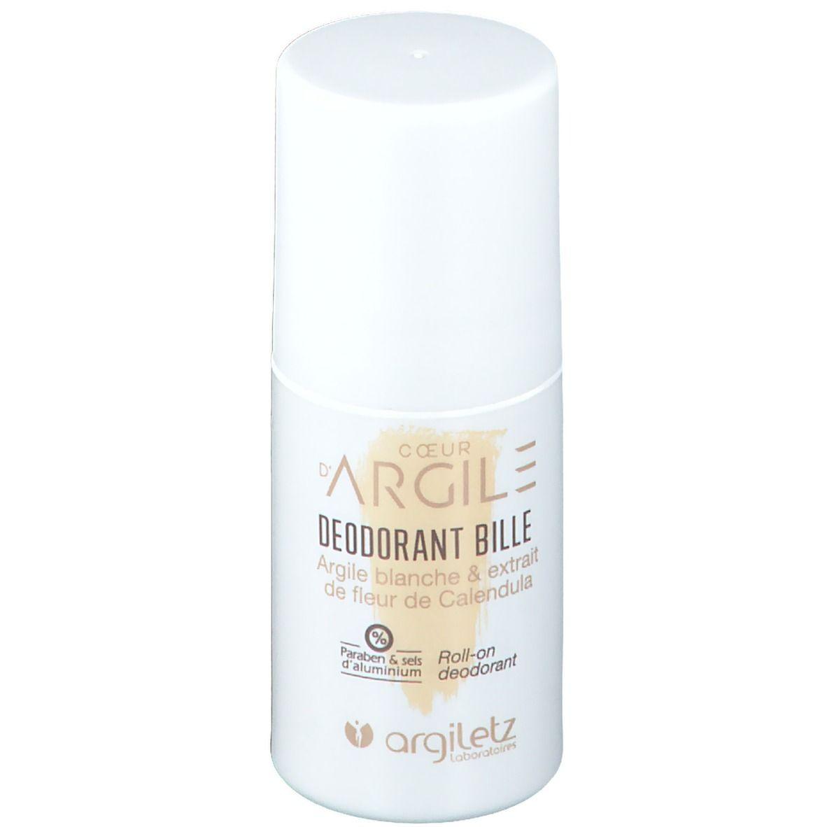 Argiletz Deodorant Bille Argile blanche 6 extrait de fleur de Calendula ml Roller