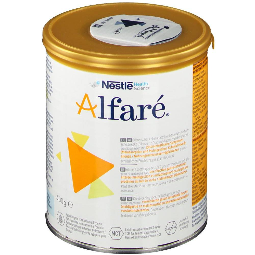 NestleBelgilux Alfaré Poudre Lait Diarrhée Chronique/Allergie g poudre