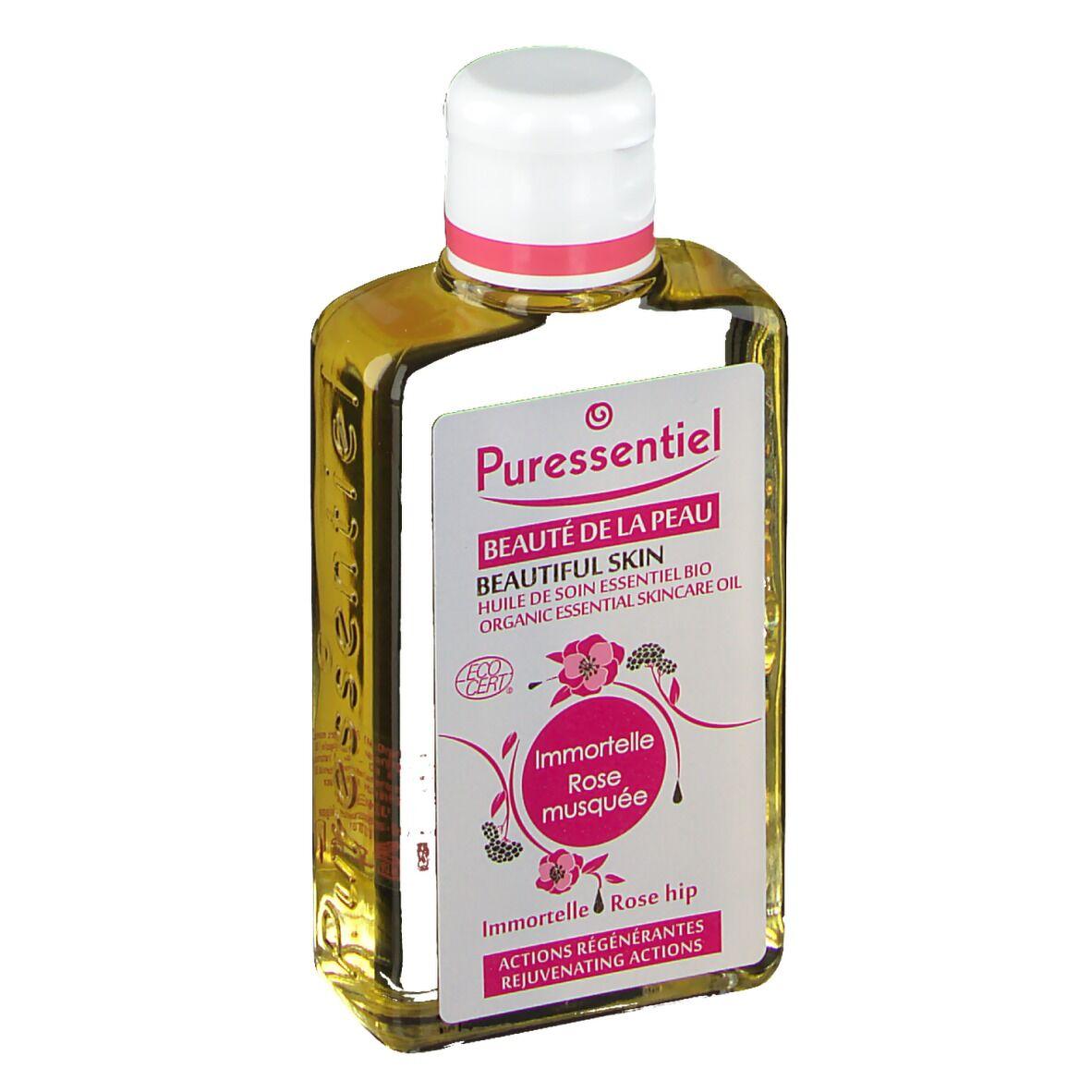 Puressentiel Huile de soin essentiel Bio Immortelle-Rose Musquée ml huile de massage