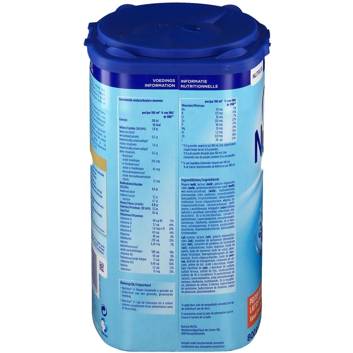 Nutricia Nutrilon Pronutra Lait De Croissance 2+ g poudre