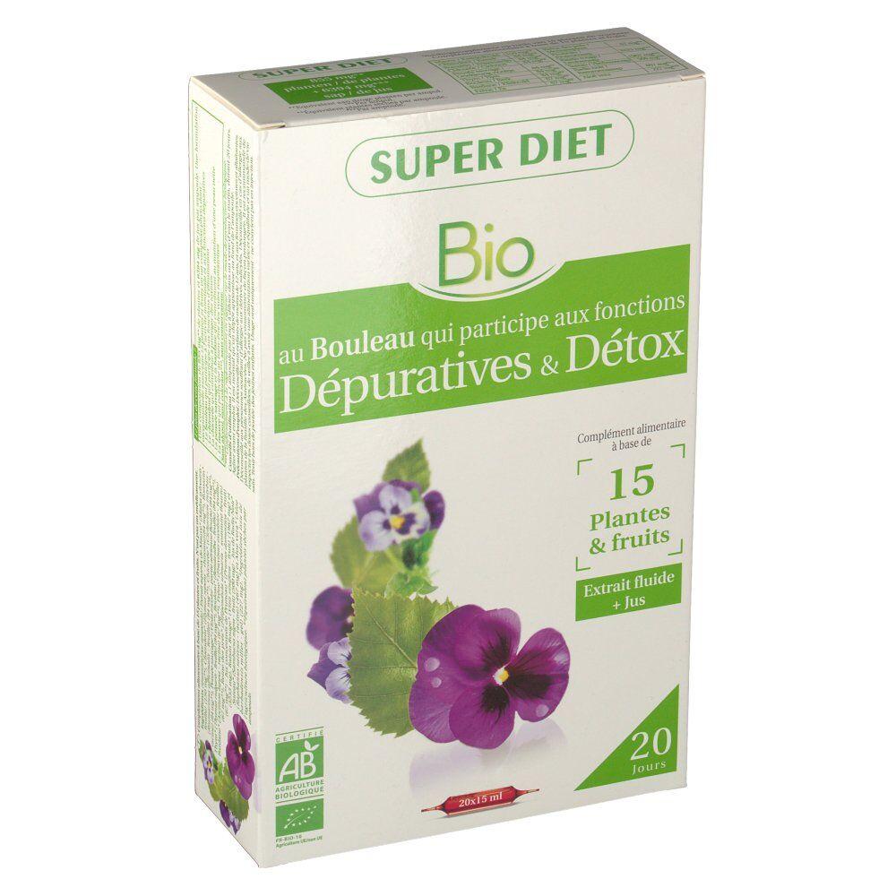 SuperdietLaboratoires Super Diet Complex Bouleau Detox Bio 15 ml ml ampoule(s) buvable(s)
