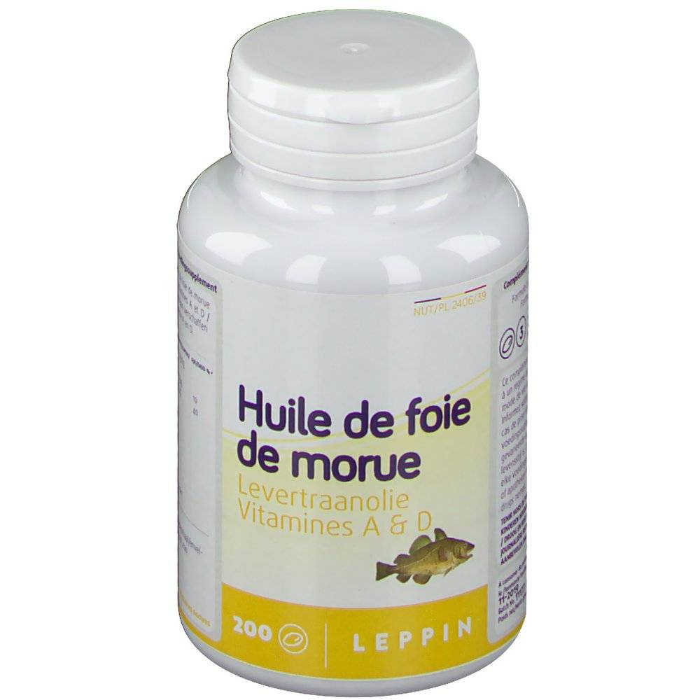 LepiVitsBelgium Leppin Huile De Foie De Morue pc(s) capsule(s) douce(s)