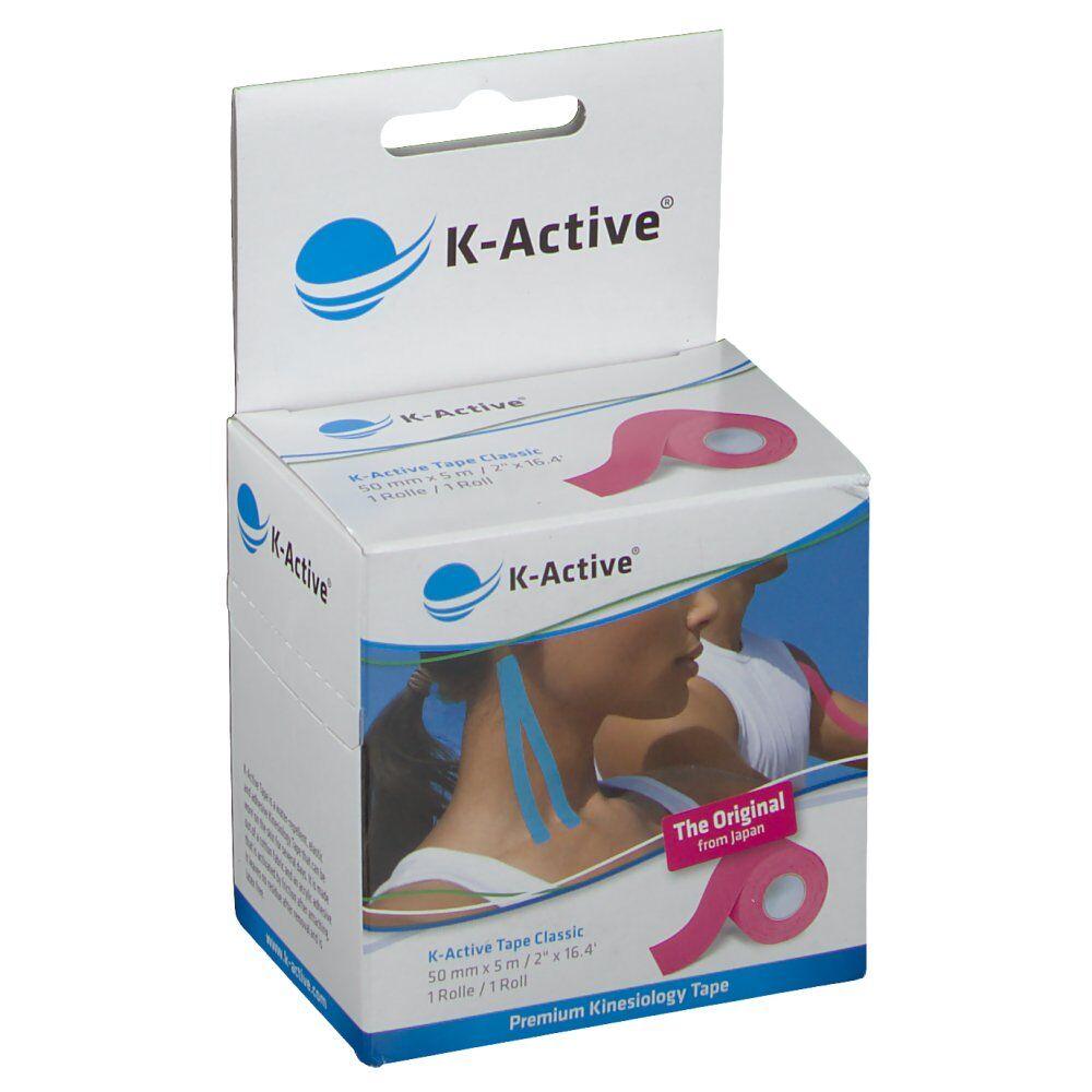 NAQI® K-Active® Tape Classic 5 cm X 5 m Rose pc(s) bandage(s)