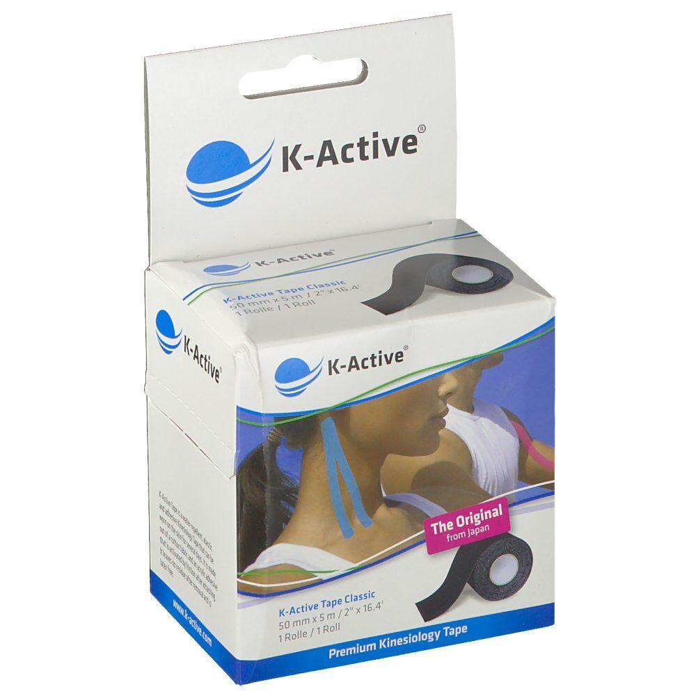 NAQI® K-Active® Tape Classic 5 cm X 5 m Noir pc(s) bandage(s)
