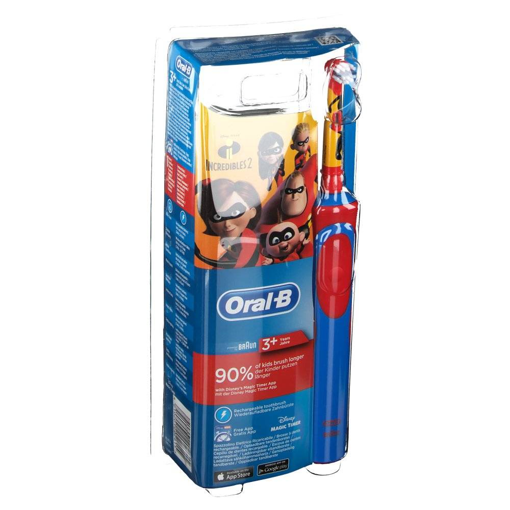 AxonePharma Oral-B Stages Power Incredibles 2 brosse à dents électrique rechargeable enfants pc(s) brosse(s) à dents