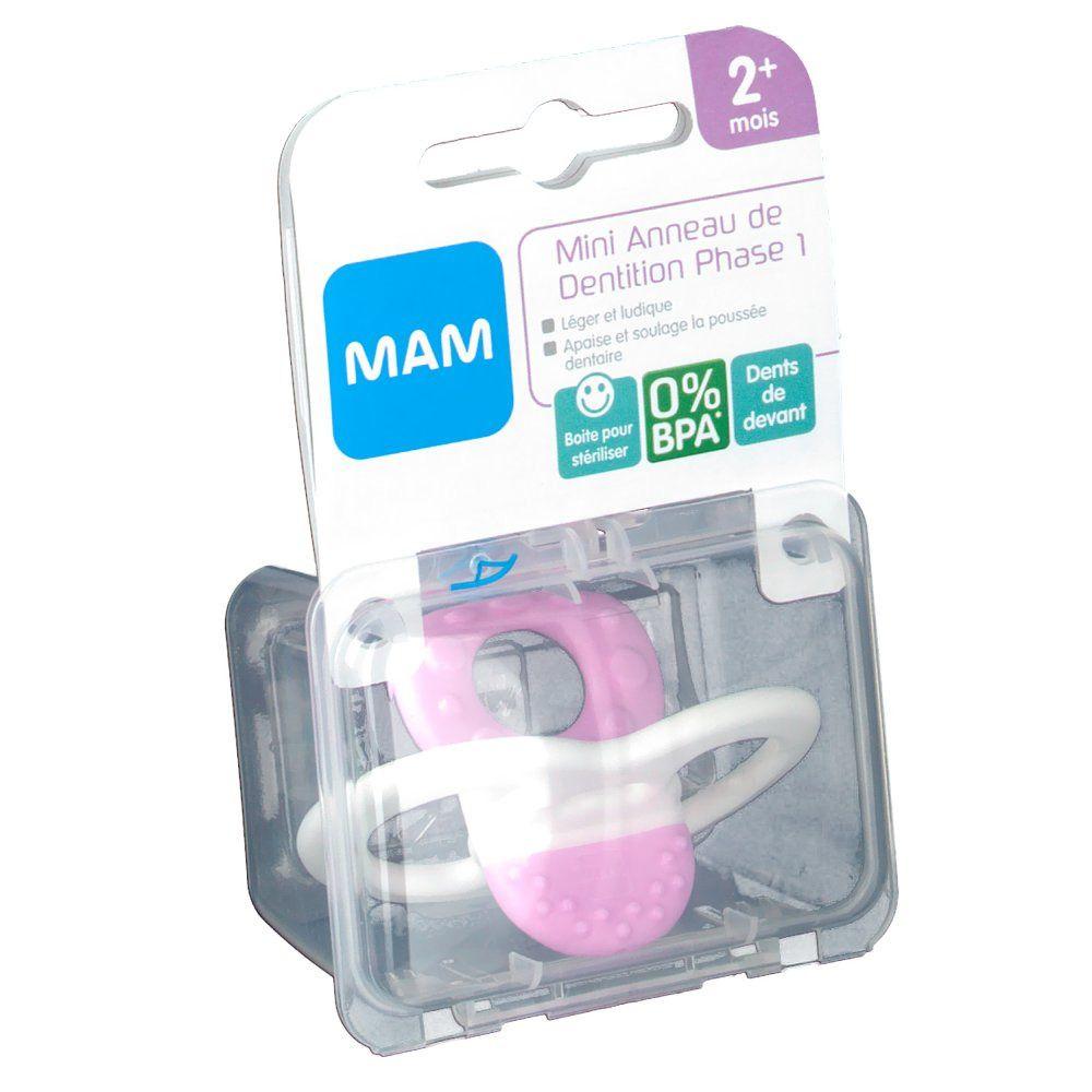 MAM Mini-anneau de dentition - Phase 1 (Couleur non sélectionnable) pc(s) Sucette(s)