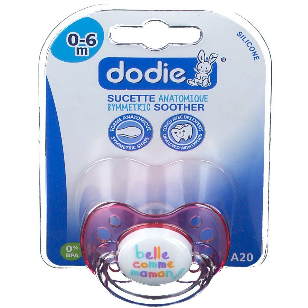 dodie® sucette anatomique silicone message 1er âge pc(s)