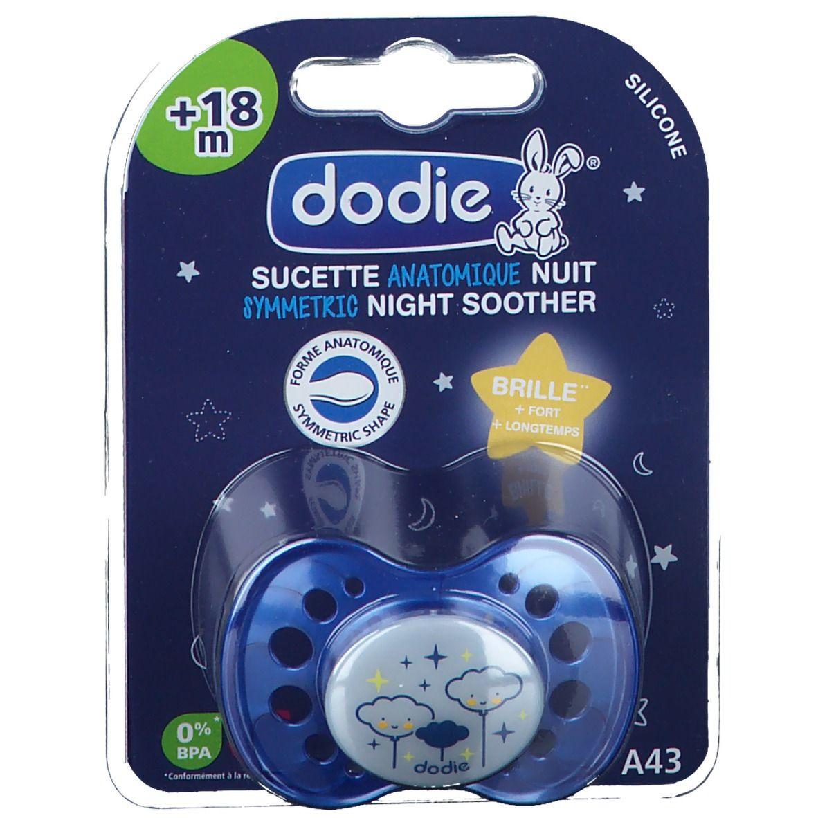 dodie® sucette anatomique silicone nuit +18 mois (Couleur non sélectionnable) pc(s) Sucette(s)