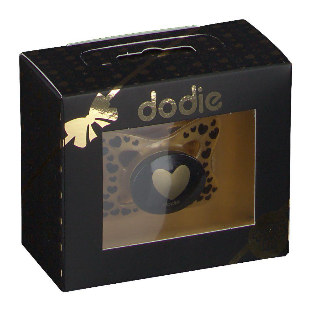 dodie® Sucette +18 mois 'Bébé chic coeur' (Couleur non sélectionnable) pc(s)