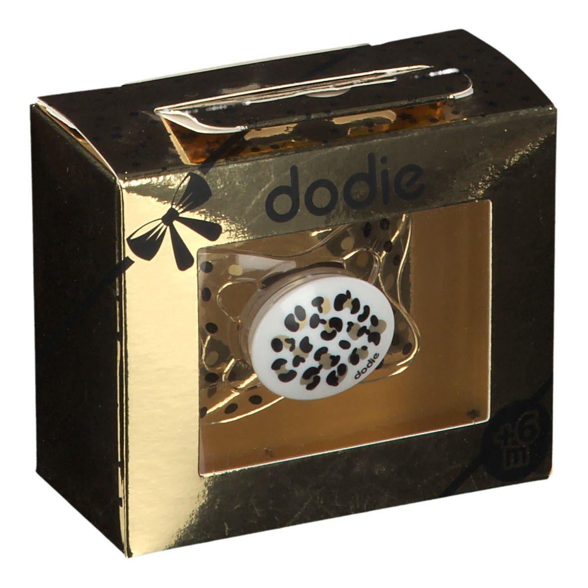 dodie® Sucette +6 mois 'Bébé chic ronds' (Couleur non sélectionnable) pc(s) Sucette(s)