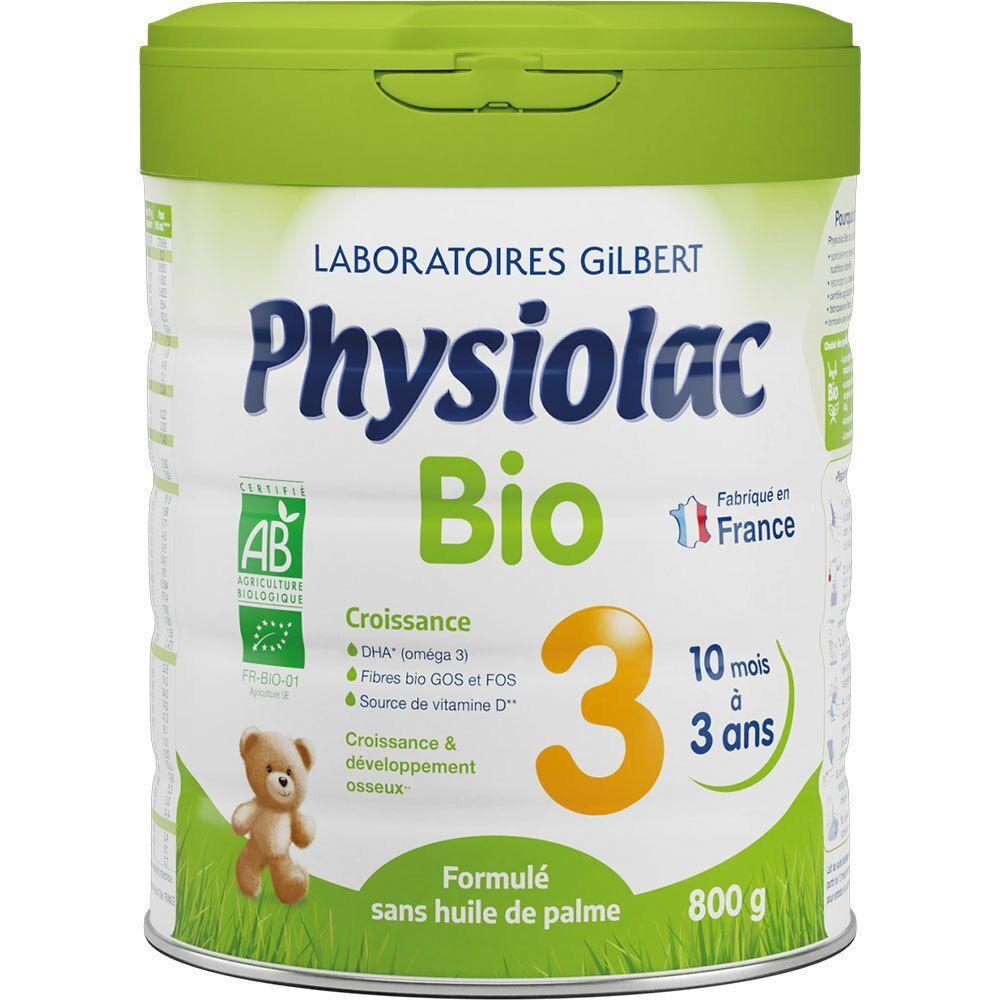 Physiolac Bio 3 Croissance Lait en Poudre g poudre
