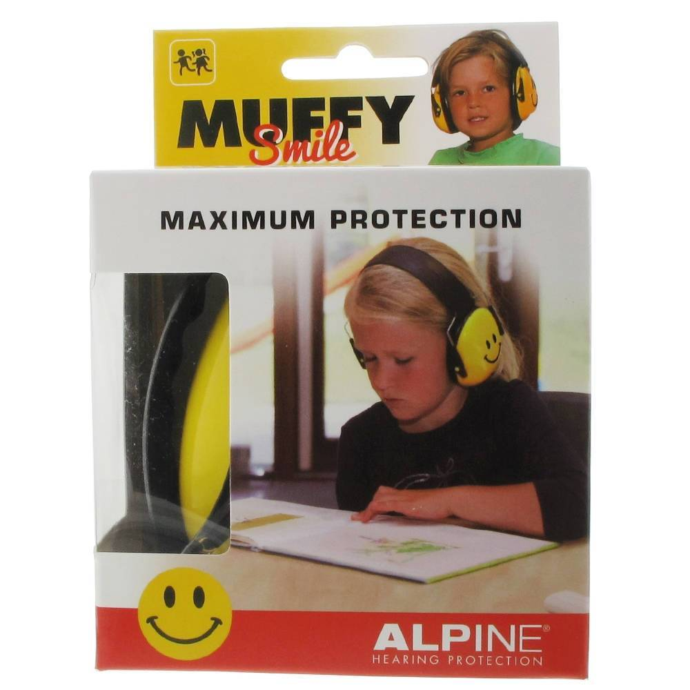 ALPINE® Muffy Smile Kids Casque anti-bruit Jaune pc(s)