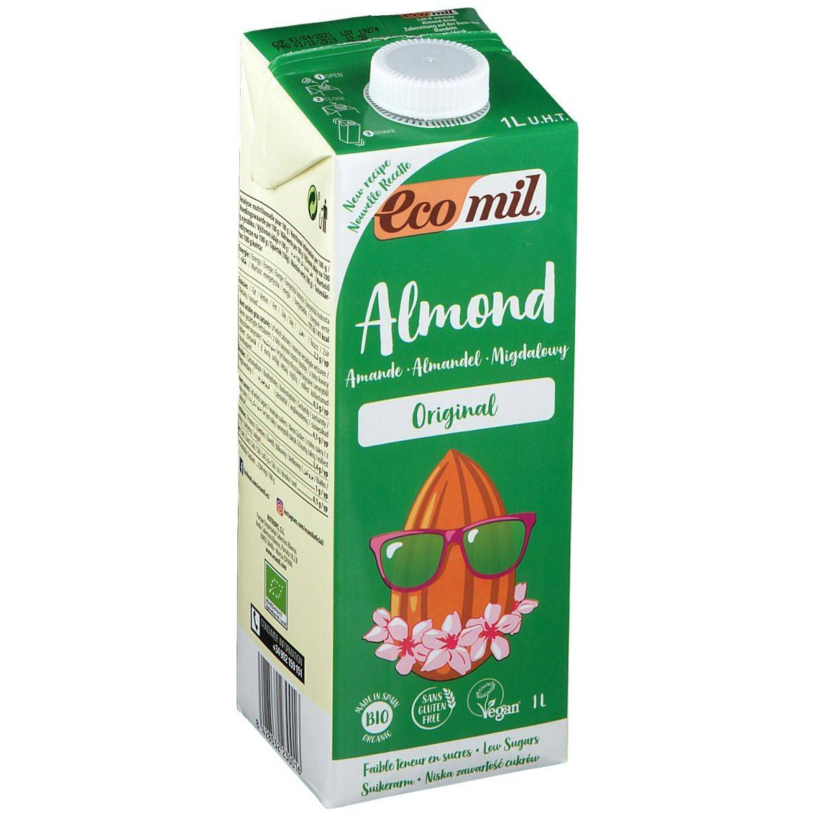 EcoMil® Lait d'amande Original Bio l solution(s) buvable(s)