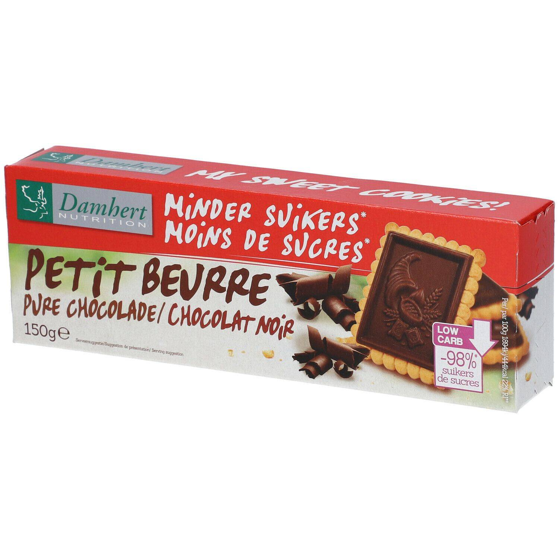 Damhert Tagatesse® Petit beurre Chocolat noir sans sucre g biscuit(s)