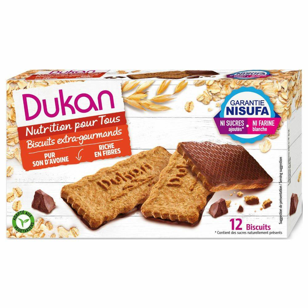 Dukan Biscuits de son d'avoine nappés de chocolat g biscuit(s)