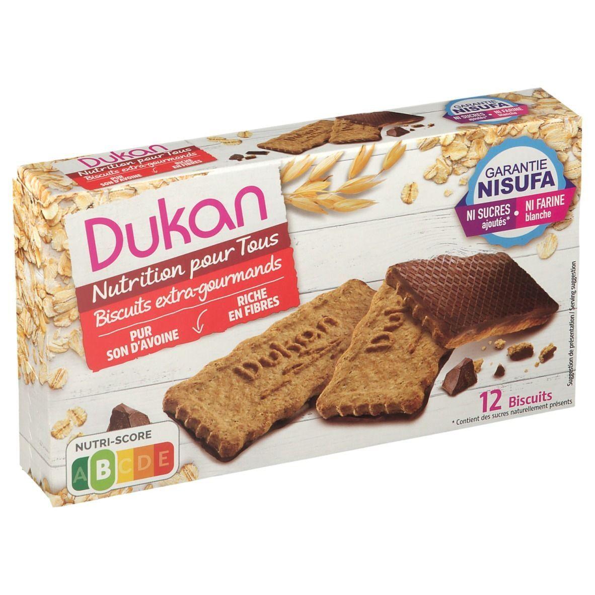 Dukan Biscuits de son d'avoine nappés de chocolat g Cookies