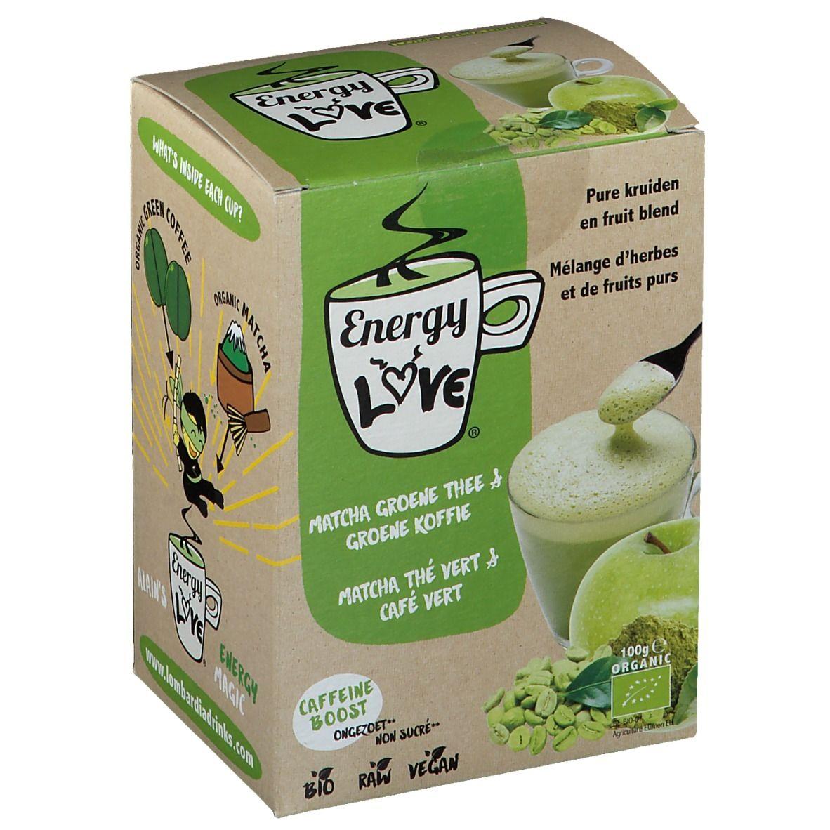 Energy Love EnergyLove Thé Matcha & Café vert Bio pc(s) sachet(s) filtre(s)