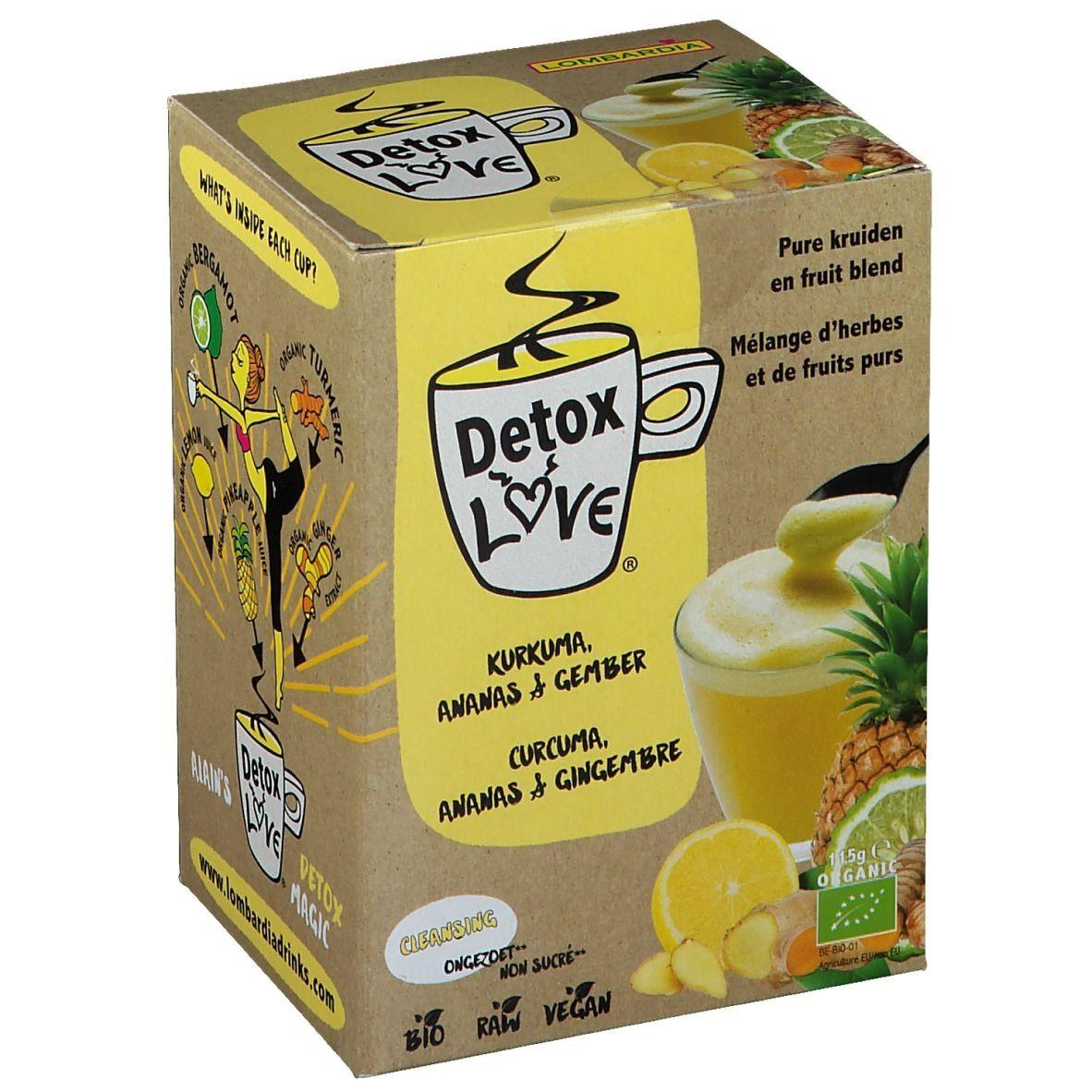 Detox Love DetoxLove Thé Curcuma, Ananas & Gingembre Bio pc(s) sachet(s) filtre(s)
