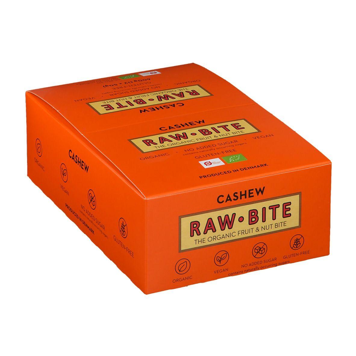 Rawbite RAW BITE Bio Barres Noix de cajou g Barre