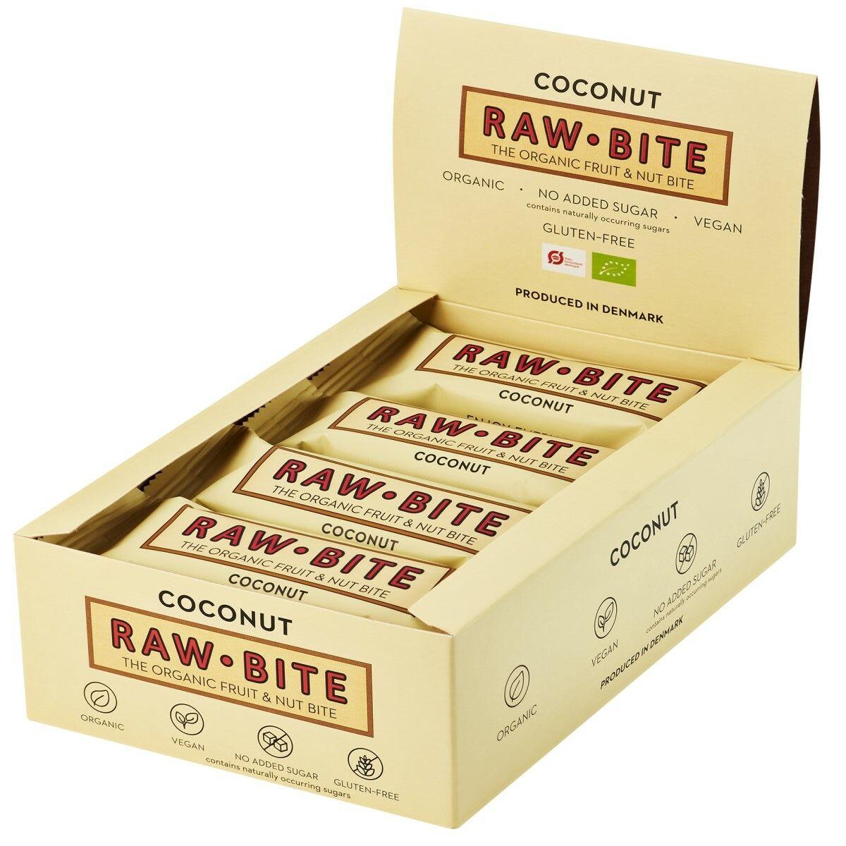Rawbite RAW BITE Bio Barres Noix de coco g Barre