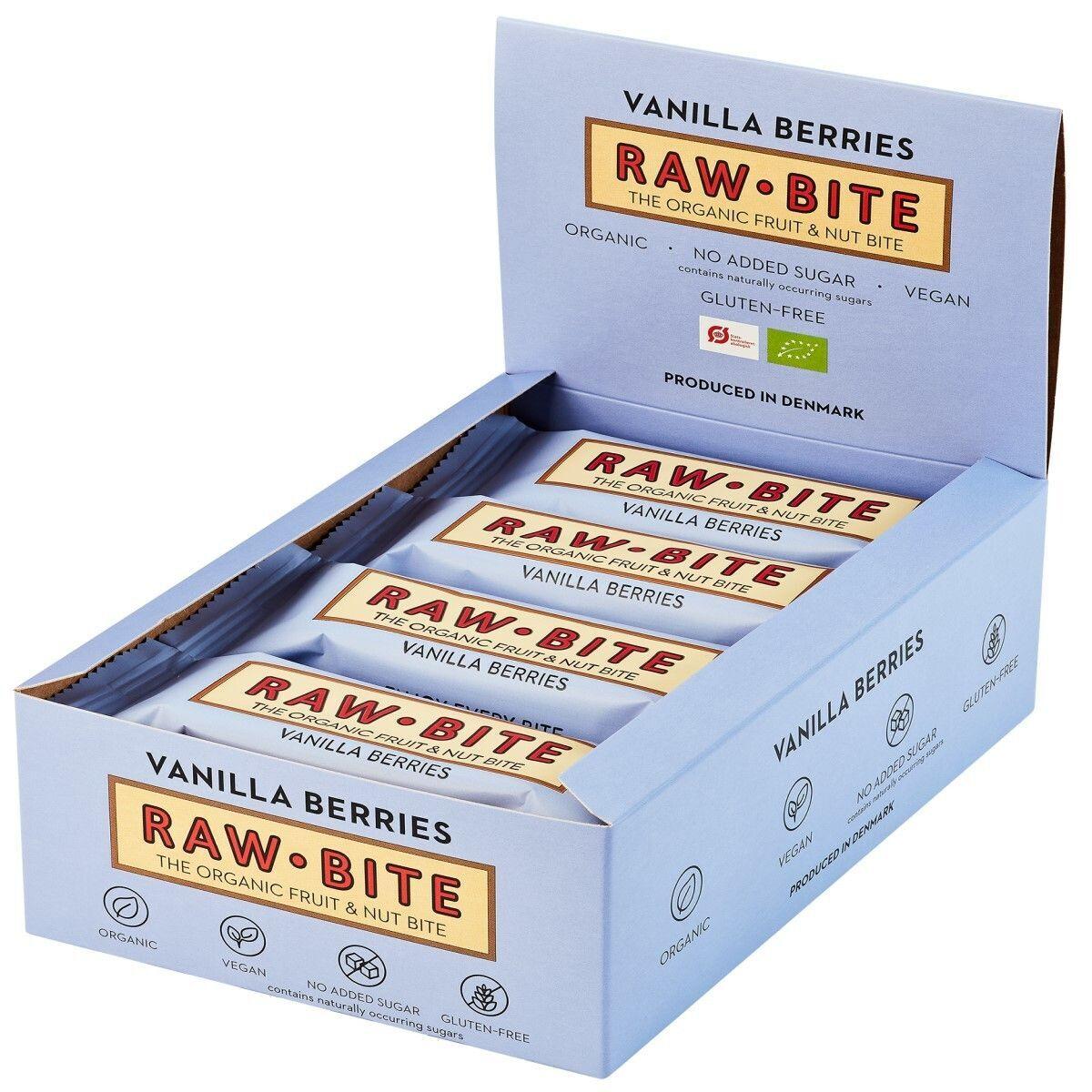 Rawbite RAW BITE Bio Barres Baies de vanille g Barre