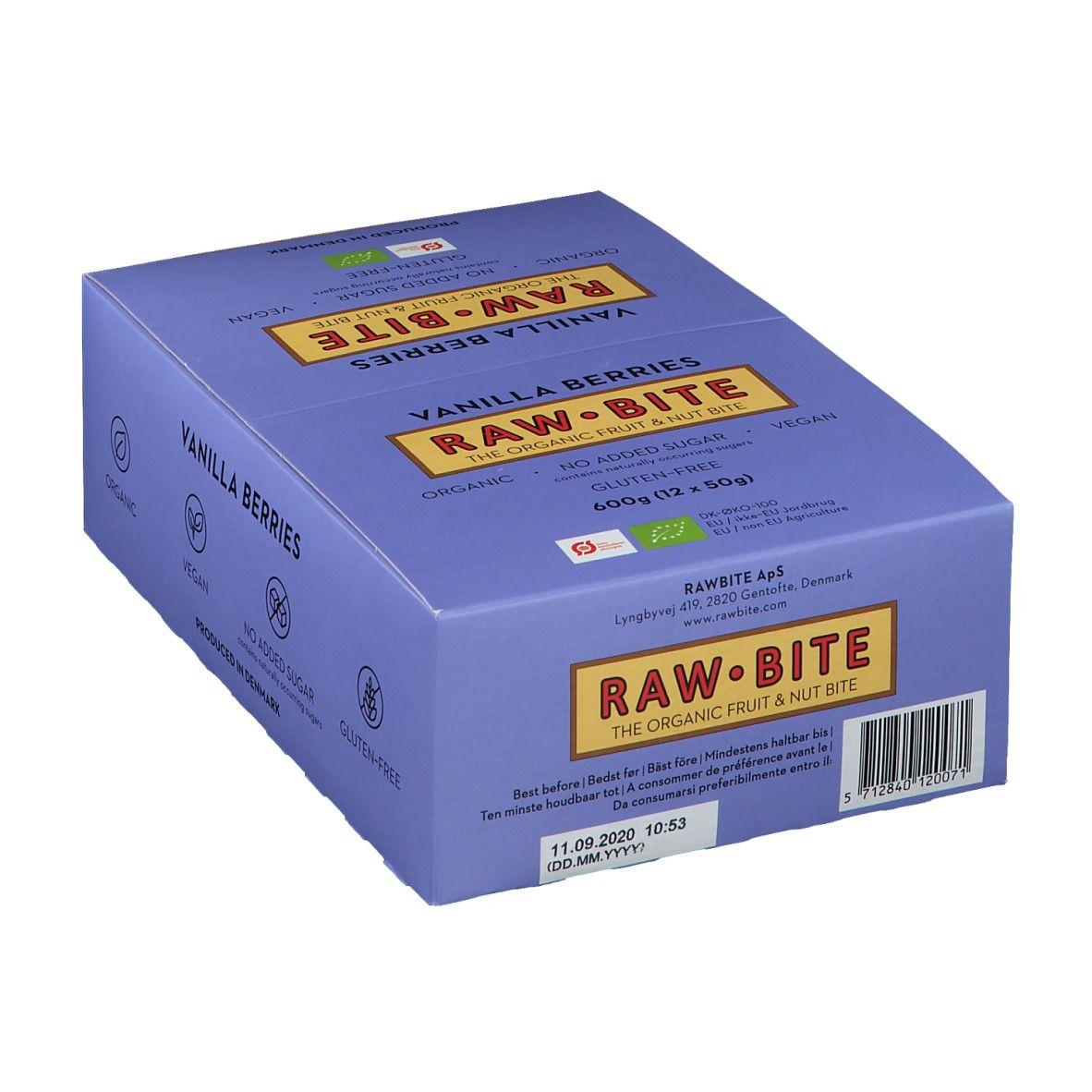 Rawbite RAW BITE Bio Barres Baies de vanille g barre(s)