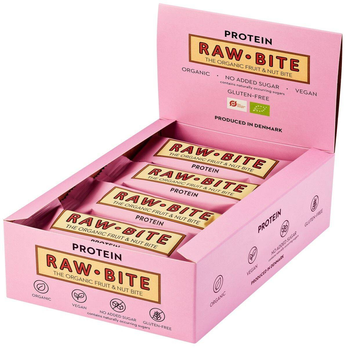 Rawbite RAW BITE Bio Barres Protéine g Barre