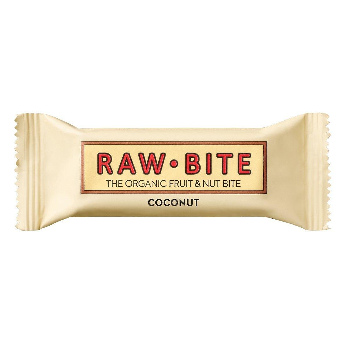 RAW BITE Bio Barres Noix de coco g Barre