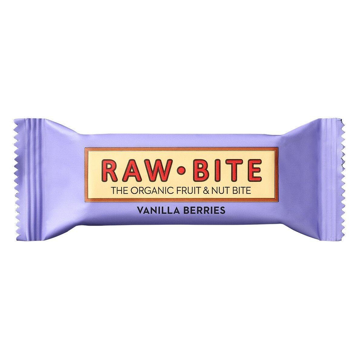 RAW BITE Bio Barres Baies de vanille g Barre