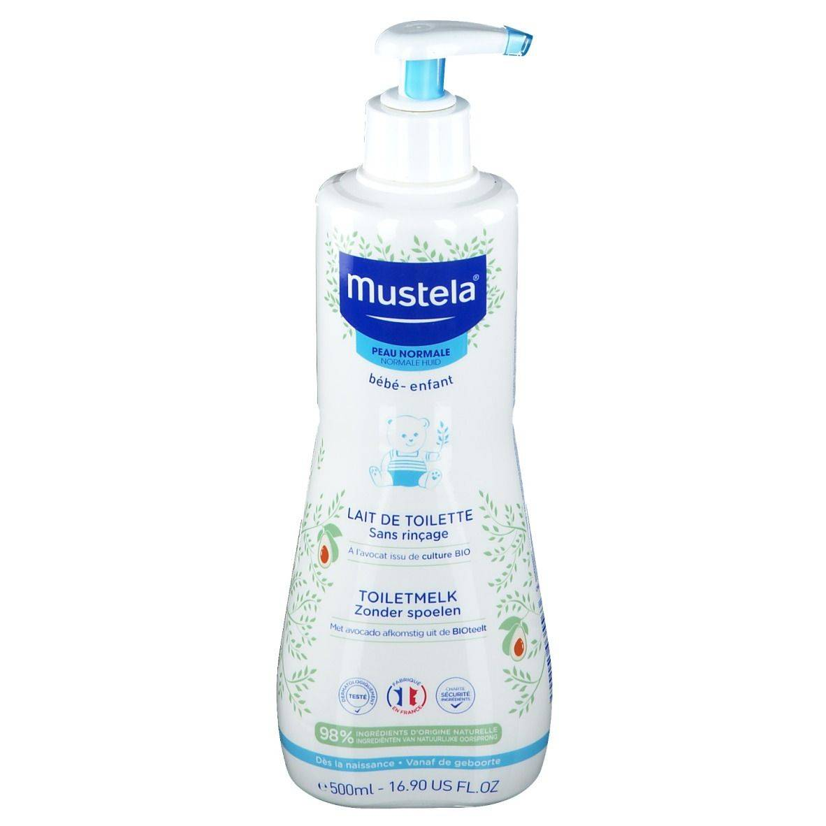 mustela® bébé - enfant Lait de toilette sans rinçage à l'avocat Bio ml lait
