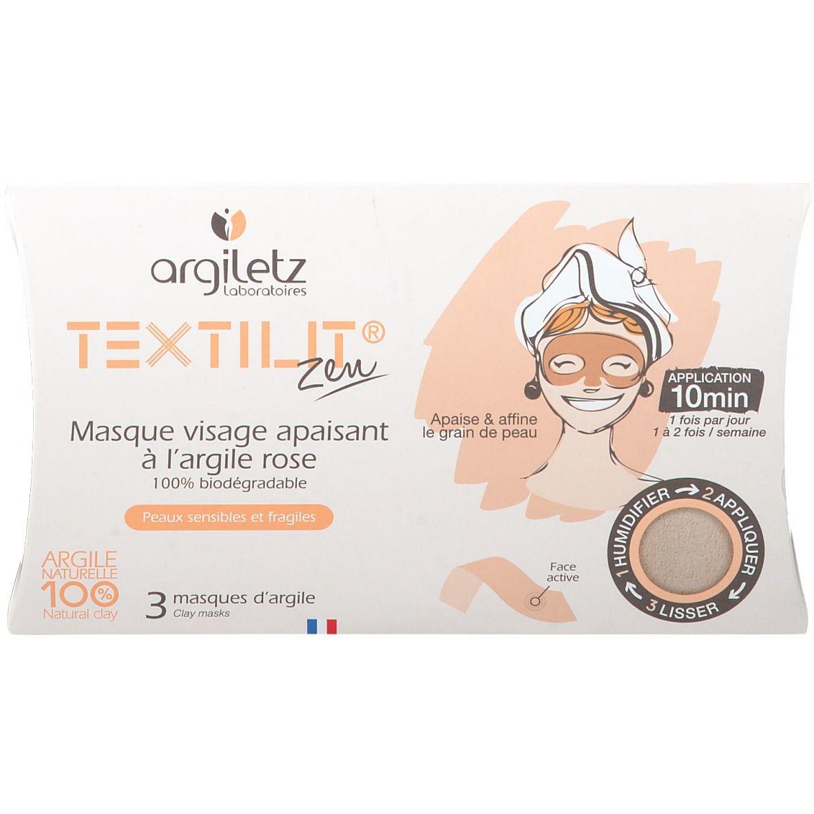 Argiletz Masque visage a l'Argile rose textilit pc(s) masque(s) pour le visage