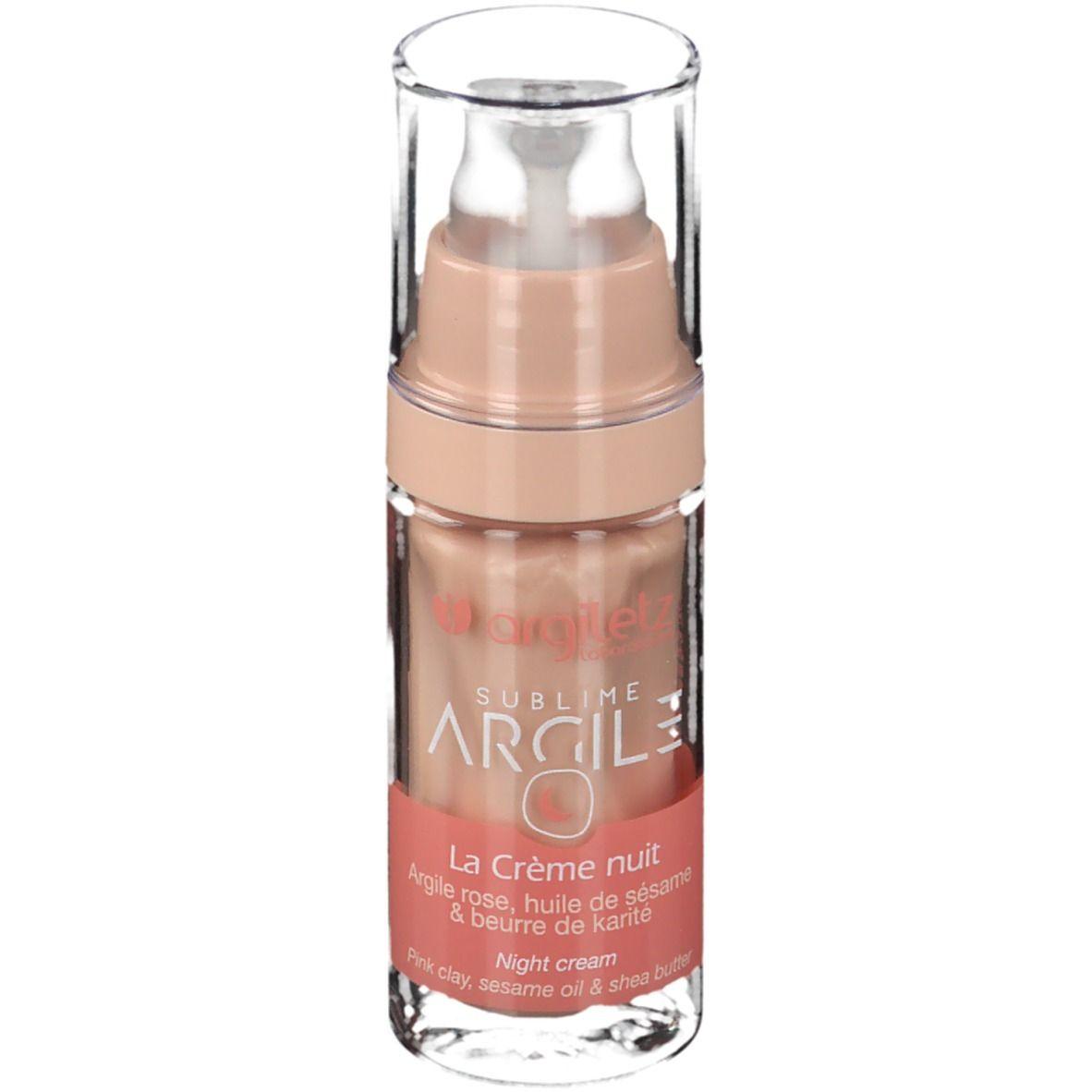 Argiletz La Crème nuit Argile rose, huile de sésame & au beurre de karité ml crème de nuit