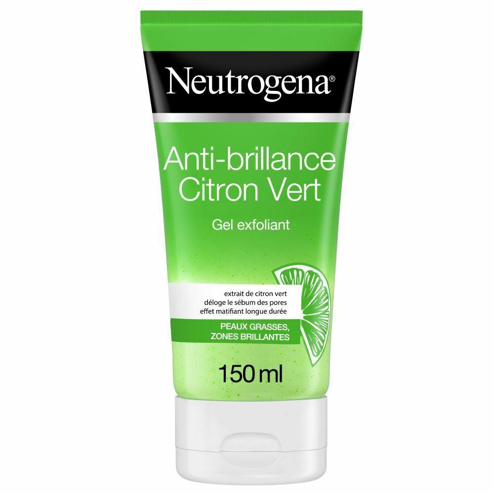 Neutrogena® Neutrogena Gel Nettoyant Exfoliant Visage, Anti-Brillance, Citron Vert, 150 ml ml gel(s)