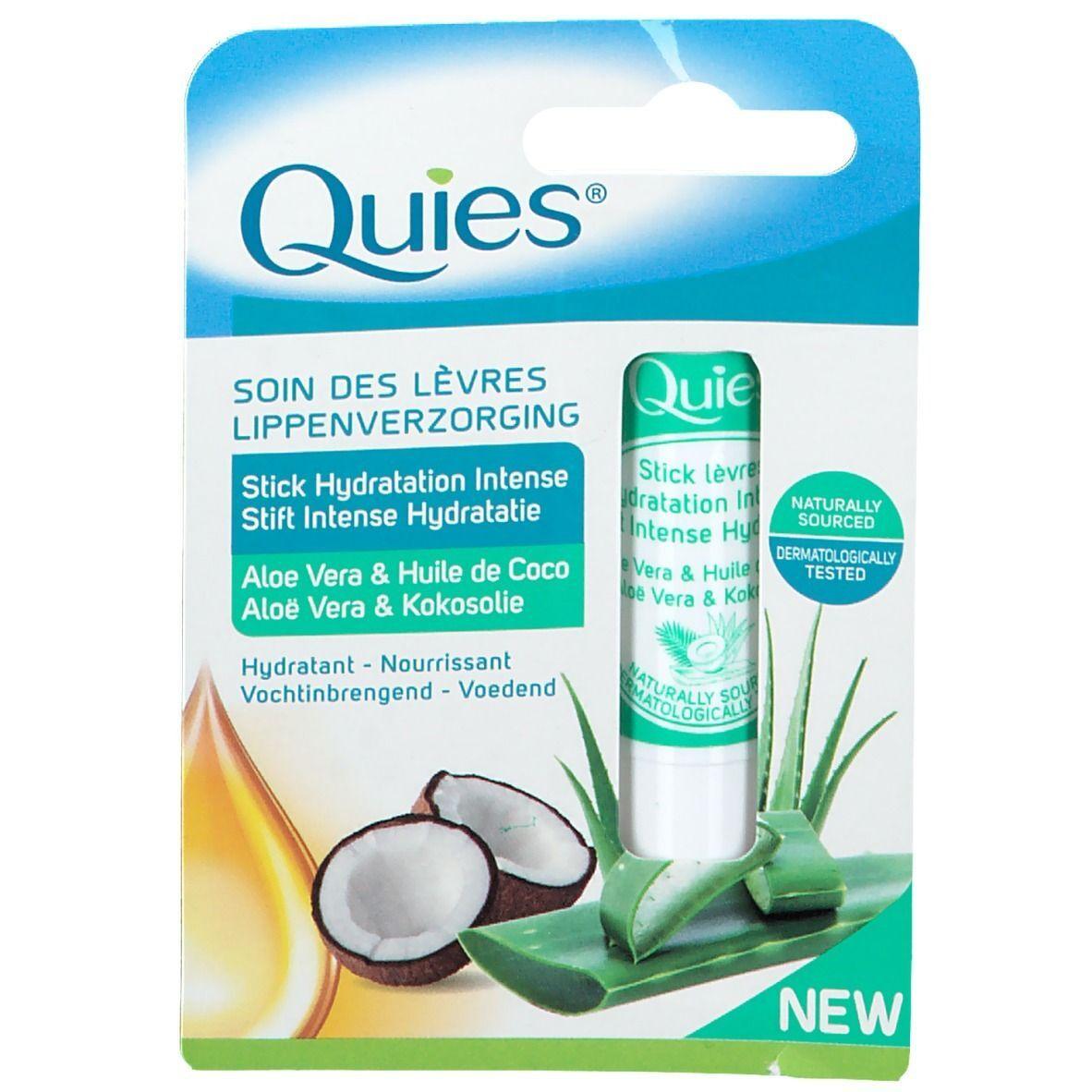 Quies® Stick Lèvres Hydratation Intense - Aloe-Vera & Huile de Coco g stylo(s)